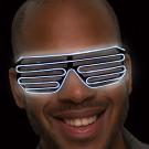 White LED Slotted EL Sunglasses