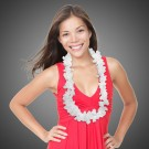White Silk Flower Leis