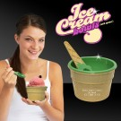 6oz Green Ice Cream Bowl and Spoon Sets