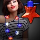 Patriotic LED Star Necklace