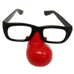Clown Nose Glasses