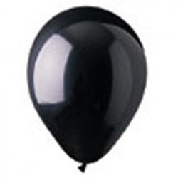 Black Crystal Latex Balloons - 12 Inch, 100 Pack