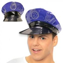 Blue Vinyl  Police Hats