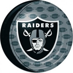 "Oakland Raiders Football 9"" Plates"