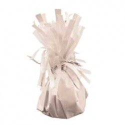 White Foil Balloon Weight - 2.5 Inch