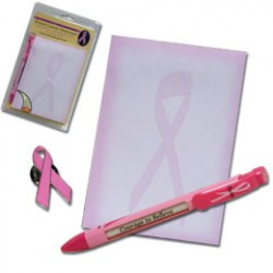 Pink Ribbon Note Pad Set