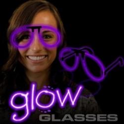 Purple Glow Eyeglasses