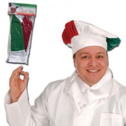 Red, White and Green Chef's Hat