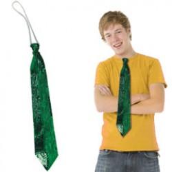 Green Sequin Necktie
