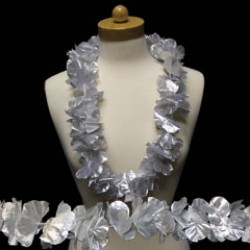Silver Flower Leis