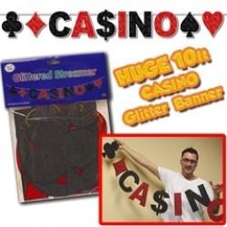 Casino Glitter Banner