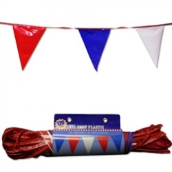 Red, White & Blue   120'  Patriotic Pennant Banner