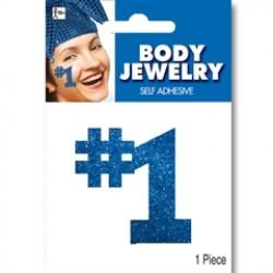 Blue #1 Glitter Body Jewelry