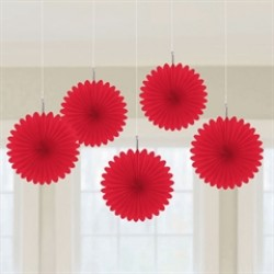 Red Mini  Hanging Spray Fans