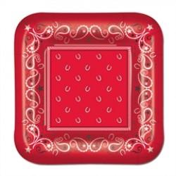 Red Bandana  7'' Plates