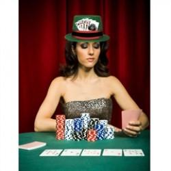 Green Glitter  Casino Top Hat