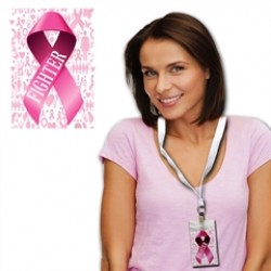 Pink Ribbon Pass with Lanyard