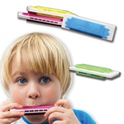 Assorted Color Plastic Harmonicas