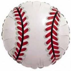 Baseball Metallic Balloon - 18 Inch