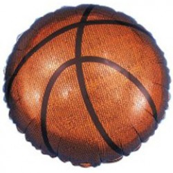 Basketball Metallic Balloon - 18 Inch