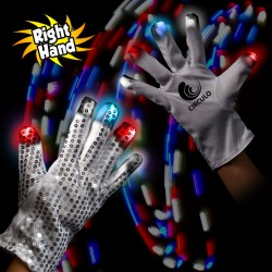 Patriotic LED Rock Star Glove (Right Hand)