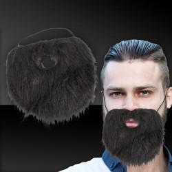 Black Beard with Elastic Band