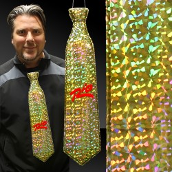 Gold Prismatic Plastic Neckties