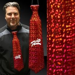 Red Prismatic Plastic Neckties