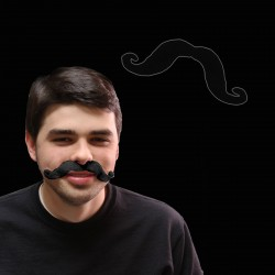 Black Handlebar Mustaches