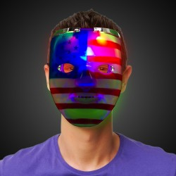 Patriotic LED Double Face Mask