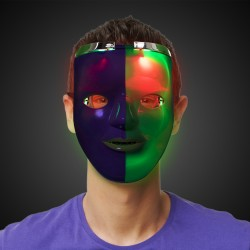 Mardi Gras LED Double Face Mask