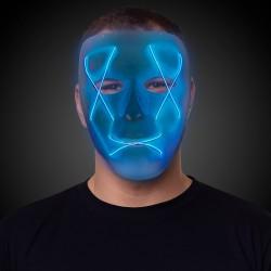 Light Up Blue EL Wire Mask