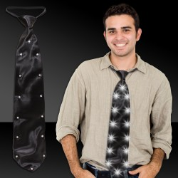Black LED Necktie - 19 Inch