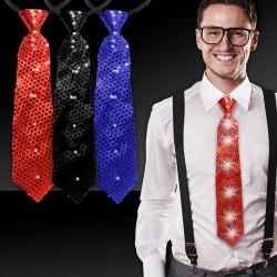 Sequin LED Neckties - 14 Inch