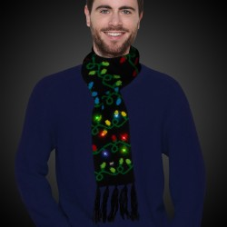 Christmas Light Bulb LED Scarf