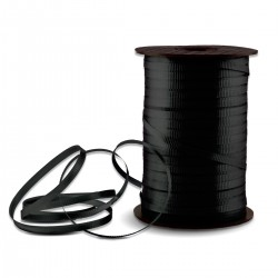Black Crimped Curling Ribbon - 500 Yards