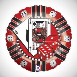 Casino Chip Metallic Balloon