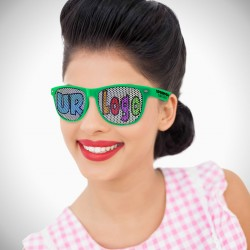Green Custom Classic Retro Billboard Sunglasses