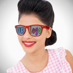 Red Custom Retro Classic Billboard Sunglasses