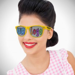 Yellow Custom Classic Retro Billboard Sunglasses