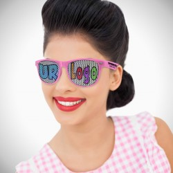 Pink Custom Classic Retro Billboard Sunglasses