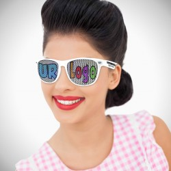 White Custom Classic Retro Billboard Sunglasses