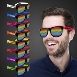 Rainbow Neon Billboard Sunglasses