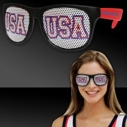 USA Red Neon Billboard Sunglasses