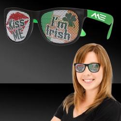 Kiss Me I'm Irish Neon Green Billboard Sunglasses