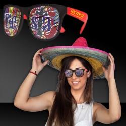 Fiesta Neon Red Billboard Sunglasses
