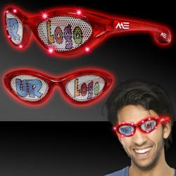 Red LED Billboard Sunglasses