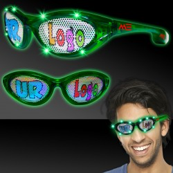 Green LED Billboard Sunglasses