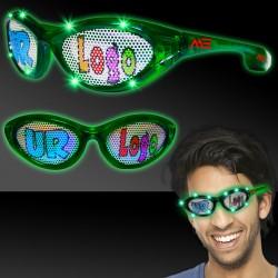 Green LED Billboard Sunglasses