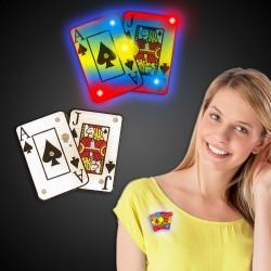 Flashing Blackjack Spade Cards LED Blinkies